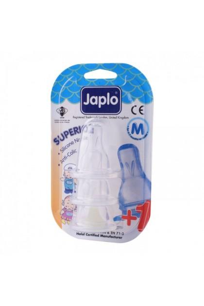 JAPLO SUPERIOR ANTI COLIC NIPPLE TEAT (3 PCS) - M