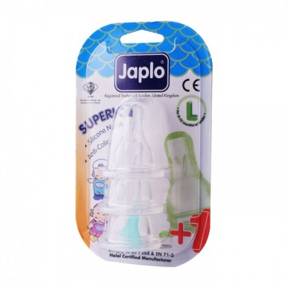 JAPLO SUPERIOR ANTI COLIC NIPPLE TEAT (3 PCS) - L