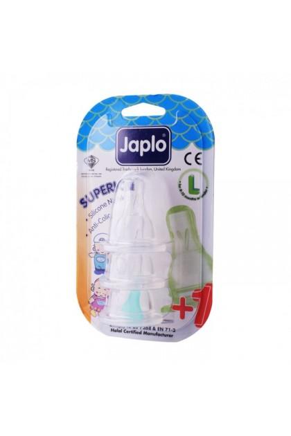 JAPLO SUPERIOR ANTI COLIC NIPPLE TEAT (3 PCS) - L