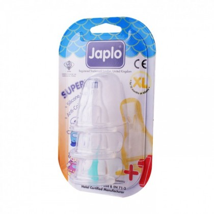 JAPLO SUPERIOR ANTI COLIC NIPPLE TEAT (3 PCS) - XL