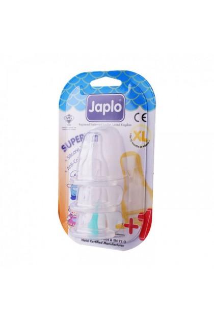 JAPLO SUPERIOR ANTI COLIC NIPPLE TEAT (3 PCS) - XL