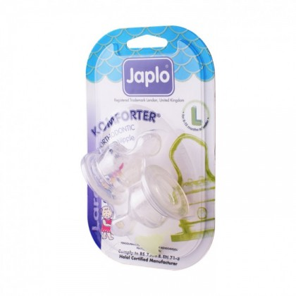 JAPLO KOMFORTER ORTHODONTIC NIPPLE TEAT (2PCS) - LARGE L