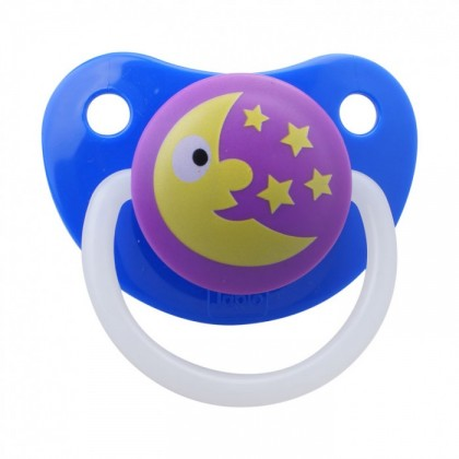 JAPLO PACIFIER SOOTHER TWINKLE STAR - WITH NIGHT GROWTH HANDLE - CHERRY