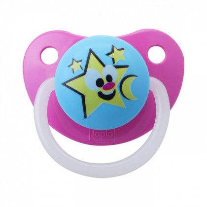 JAPLO PACIFIER SOOTHER TWINKLE STAR - WITH NIGHT GROWTH HANDLE - ORTHODONTIC