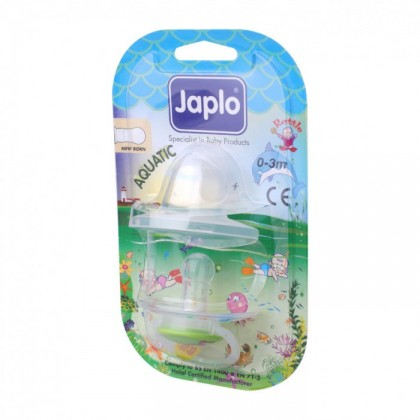 JAPLO PACIFIER SOOTHER AQUATIC - WITH NIGHT GROWTH HANDLE AND RATTLE - NEWBORN