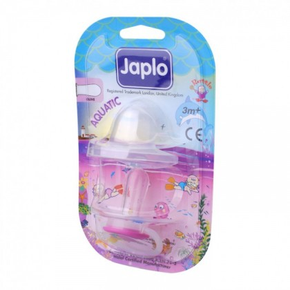 JAPLO PACIFIER SOOTHER AQUATIC - WITH NIGHT GROWTH HANDLE AND RATTLE- OLIVE