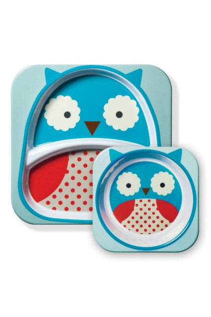Skip Hop - Zoo Tableware Melamine Set - Owl