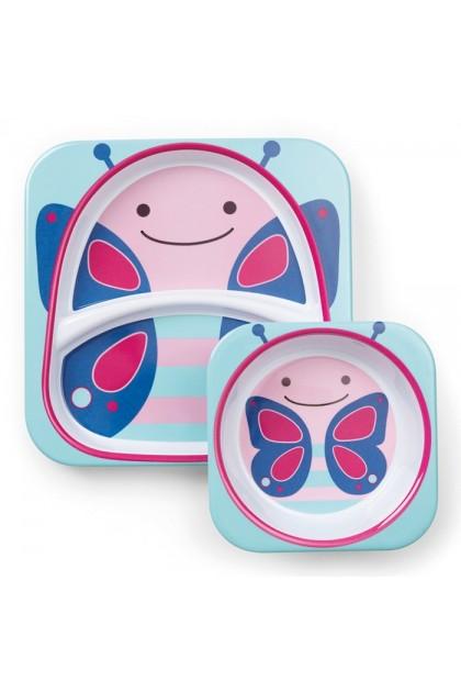 Skip Hop - Zoo Tableware Melamine Set - Butterfly