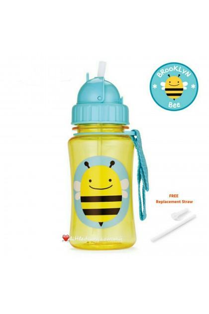 Skip Hop Zoo Straw Bottle - Bee (FREE 1 Extra Straw)