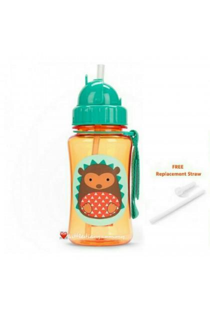 Skip Hop Zoo Straw Bottle - Hedgehog (FREE 1 Extra Straw)