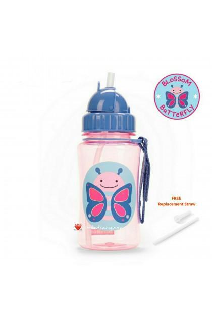 Skip Hop Zoo Straw Bottle - Butterfly (FREE 1 Extra Straw)