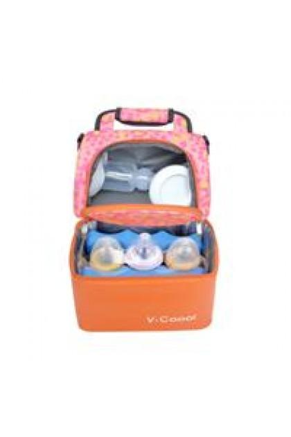 V-Coool Lovely Room Floral Cooler Bag Electric Breast Pump Set