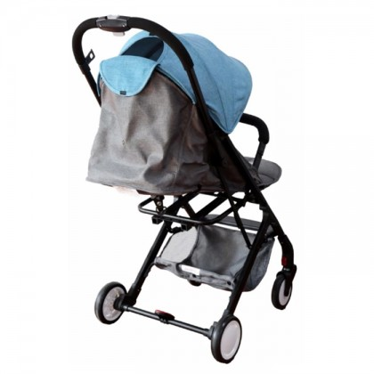 Sweet Heart Paris ST333 Baby Stroller with Luggage Folded (Blue Grey)