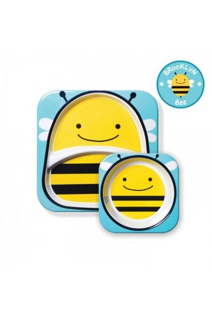 Skip Hop - Zoo Tableware Melamine Set - Bee
