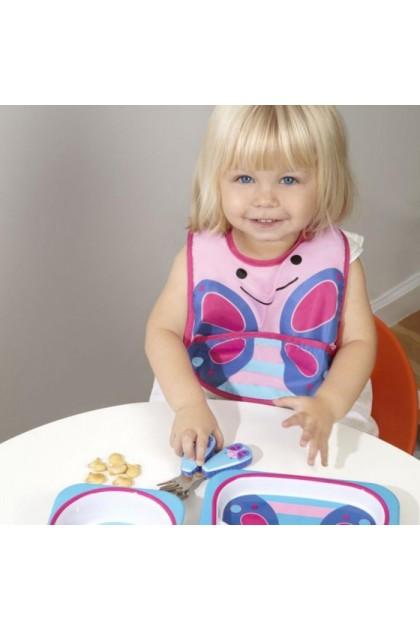 Skip Hop - Zoo Tuck-Away Bib - Butterfly