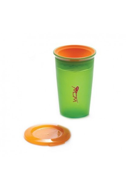 Wow Gear - JUICY! WOW Cup for Kids Translucent Spill Free Tumblers - Green