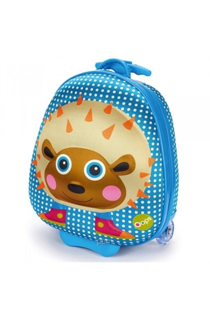 Oops Happy Trolley Kids Luggage - Hedgehog