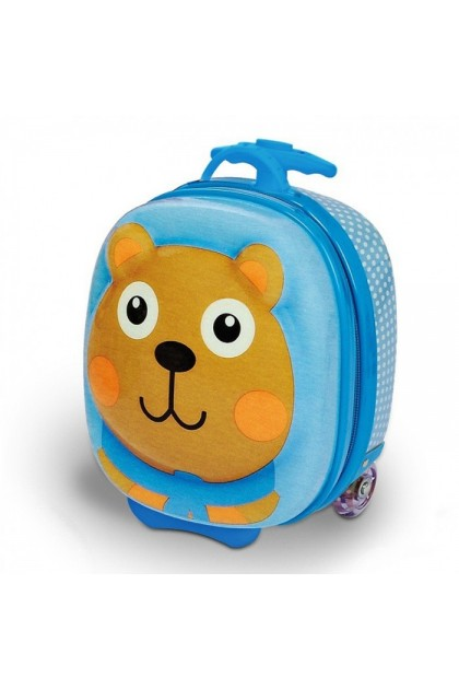 Oops Happy Trolley Kids Luggage - Bear