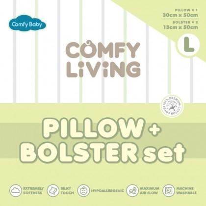 Comfy Baby Bolster & Pillow Set (L) - Green Bear
