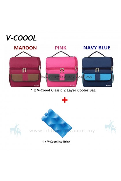 V-Coool Classic 2 Layer Cooler Bag Free 1 Ice Brick