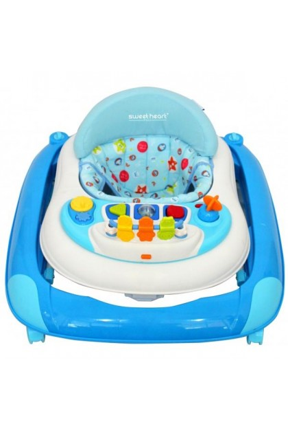 Sweet Heart Paris Baby Walker BW1001 with Crystal Wheel - Blue