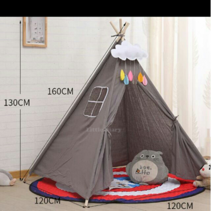 Kid's Playing Indian Tent + Stabilizer + Flag