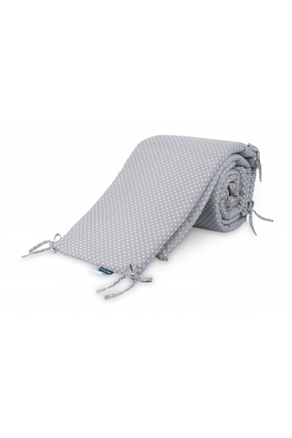 Comfy Baby - Cot Bumper 2pcs Set - Gray Dots