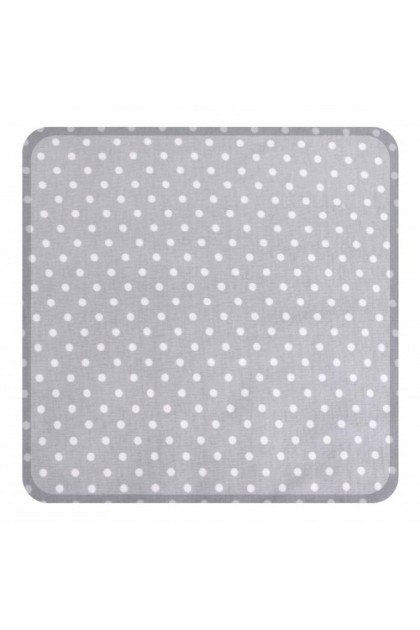 Comfy Baby Fitted Sheet (L) (70x130cm) - Grey Dot