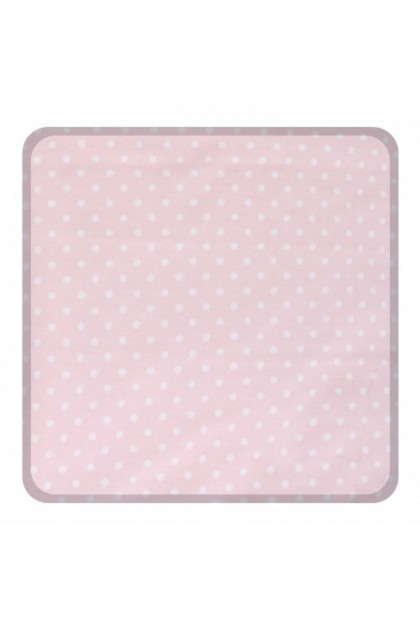 Comfy Baby Fitted Sheet (L) (70x130cm) - Pink Dot