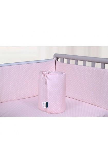 Comfy Baby - Cot Bumper 2pcs Set - Pink Dots