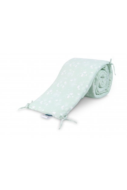 Comfy Baby - Cot Bumper 2pcs Set - Green Bear