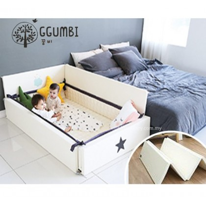 GGUMBI 3 in 1 World Star Transformation Bed (Ivory)