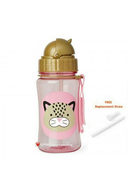 Skip Hop Zoo Straw Bottle - Leopard (FREE 1 Extra Straw)