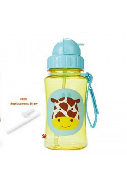Skip Hop Zoo Straw Bottle - Giraffe  (FREE 1 Extra Straw)