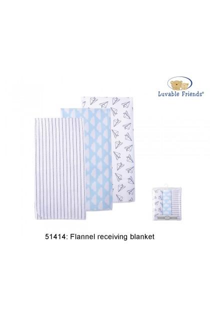 Luvable Friends Flannel Receiving Blanket 3pcs 51414