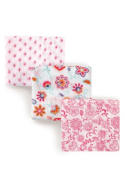 Hudson Baby 3pcs Muslin Swaddle Blanket - 50945