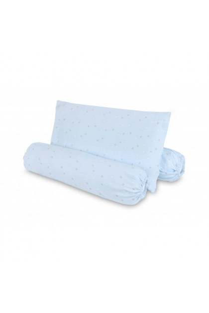 Comfy Baby Bolster & Pillow Set (S) - Blue Star