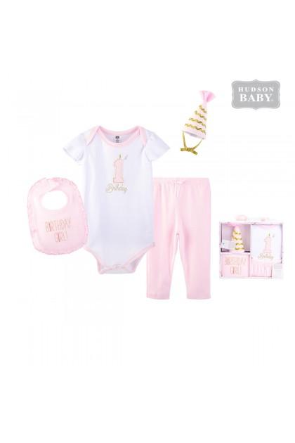 Hudson Baby Gift Box 4pcs Set (12Months) - 58220