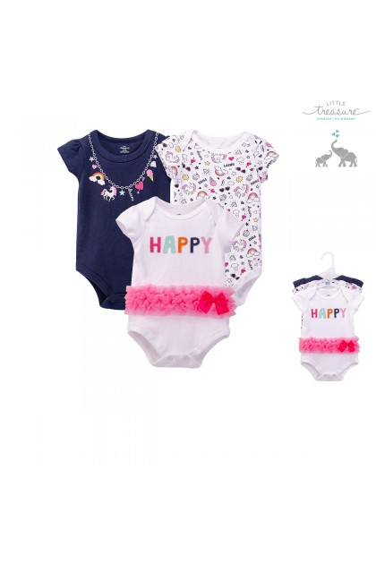 Luvable Friends Bodysuit Romper 3pcs - 71304