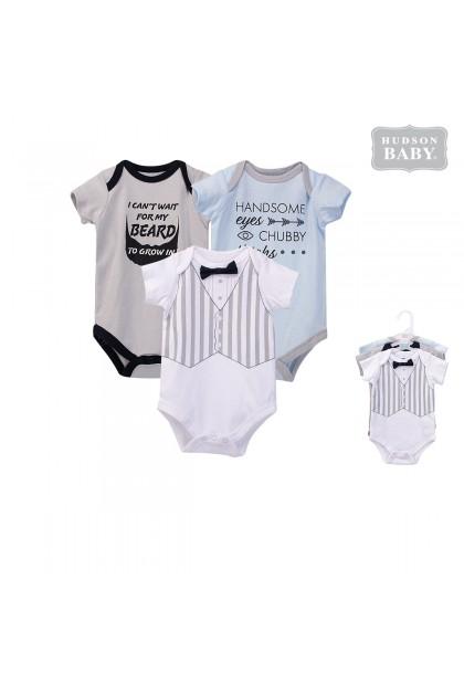 Hudson Baby Bodysuit Romper 3pcs - 53210