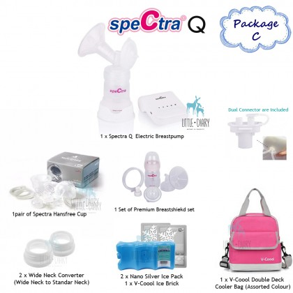 Spectra - Q Electric Breast Pump Package C + Handsfree Cup