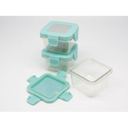 Marcus & Marcus Tritan Air Tight Container - 4oz x 3 pcs