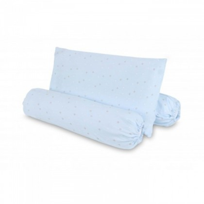 Comfy Baby Bolster & Pillow Set (L) - Blue Star