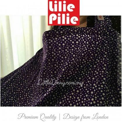 Lilie Pilie Nursing Apron Cover - Violet Bubbly