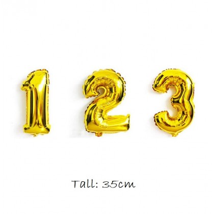 Gift Foil Balloon Number (1unit)
