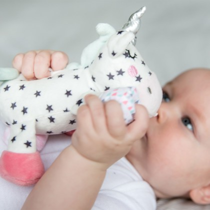 Bubble Security Blanket Baby Soother Buddy - Sparkle The Unicorn