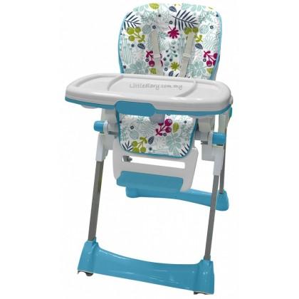 Bubbles Garden Blue High Chair