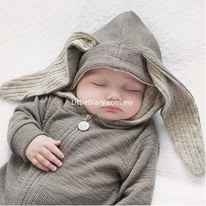 Bunny Baby hooded Jumpsuit