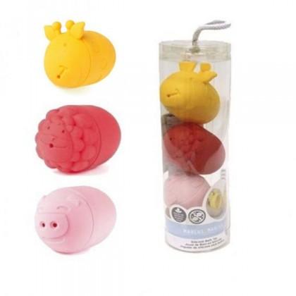 Marcus & Marcus Silicone Character Bath Toy (3 pcs set) -  Marcus , Pokey & Lola