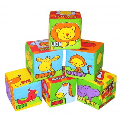 Simple Dimple My 1st Toy – 6pcs Block Set Anmal Friends